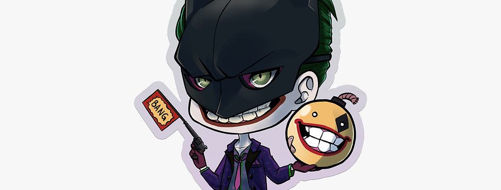 Villain Joker - Vinyl Sticker