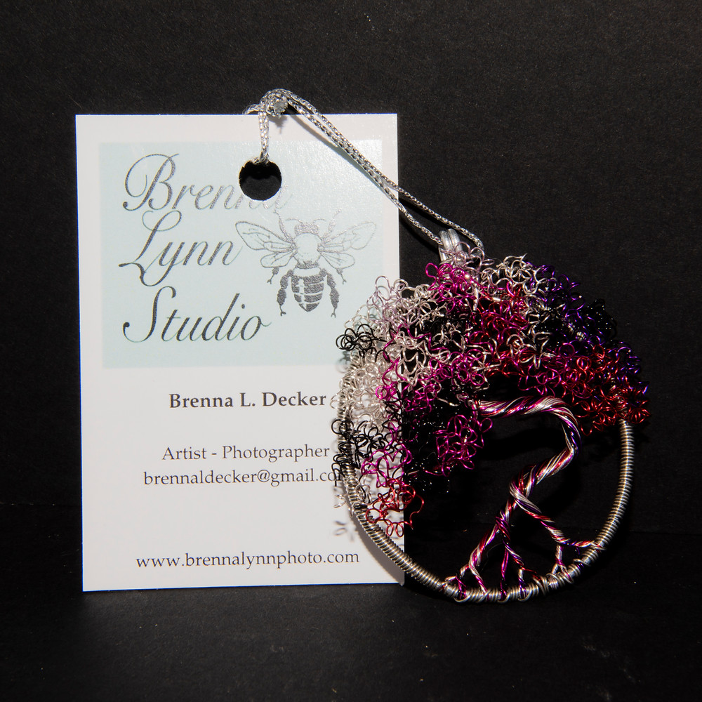 Wire wrapped tree ornament for sale in Shop