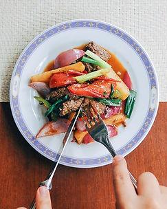 ロモサルタード 牛肉と多種野菜のビネガー炒め ワインにもビールにもよく合うペルー