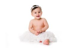 Smilende baby fotograf kjole