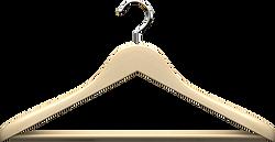 Wooden clothing hanger