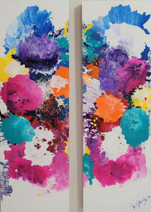 Summertime Embrace - Diptych