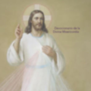 "Divine Mercy image with the words ""Devocionario de la Divina Misericordia"""