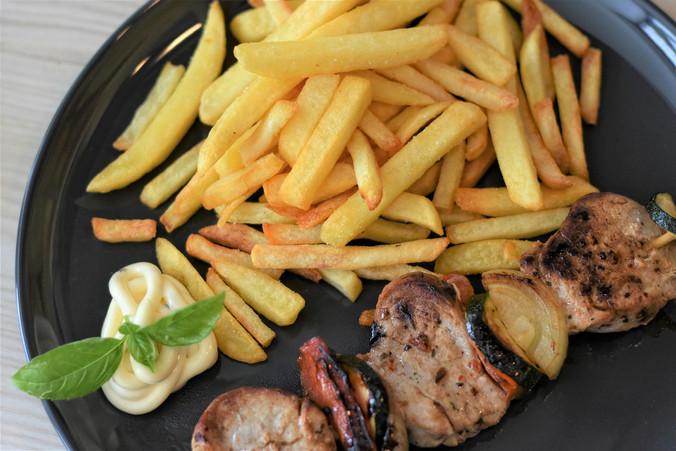Brochette frites