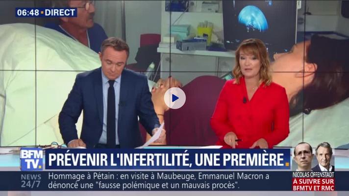 Interview BFM TV - Prévenir l'infertilité, une première