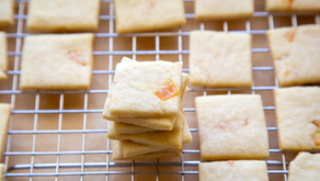 Butter Cookies with Candied Orange Peel
