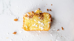 Lemon Olive Oil Mini Loaves with Hazelnut Praline
