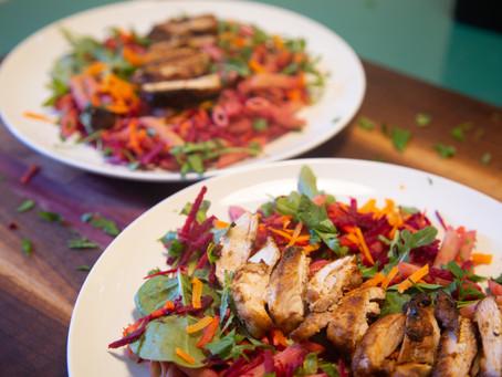 Spicy Chicken Pasta Salad