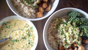 Tofu Bowl with Coconut Cilantro Sauce