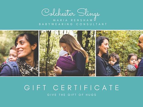 New Member package gift certificate