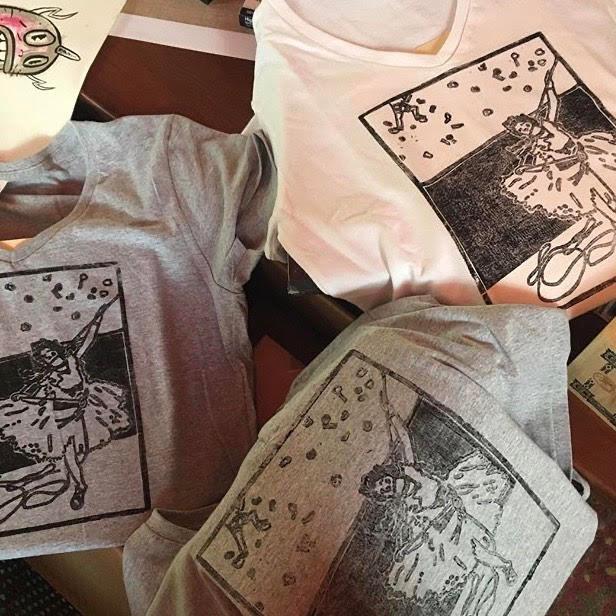 Ballet Belay women's t-shirts