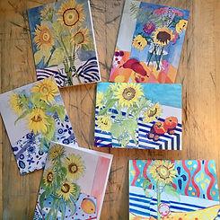 FIAJ sunflower notecards