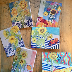 FIAJ sunflower notecards