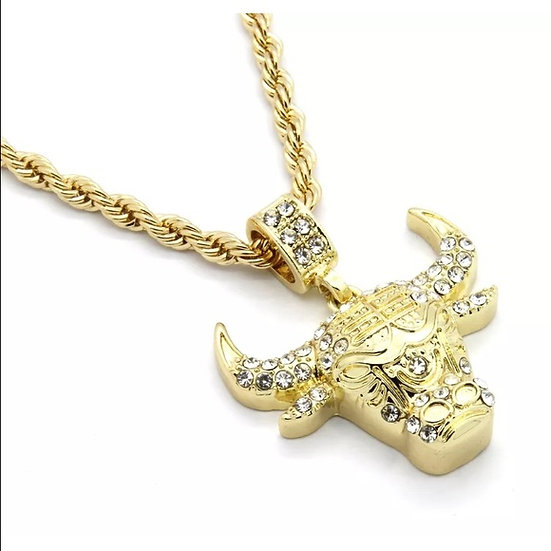 Bulls Pendant Chain Necklace