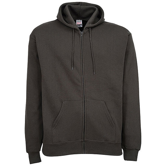 Gildan Plain Dark Grey Zipper Fleece Hoodie