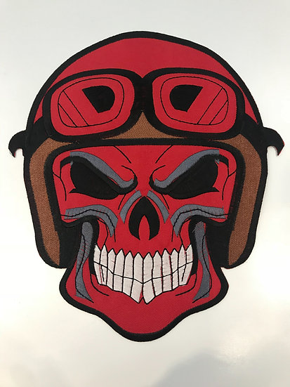 Skull Bike Helmet Large Patch