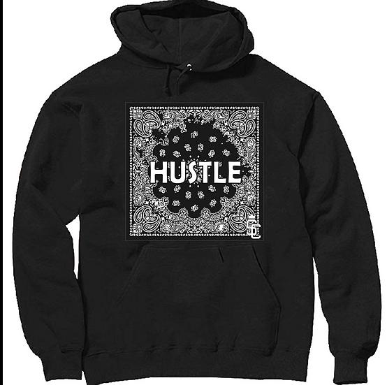 Black Hustle Flag Hoodie
