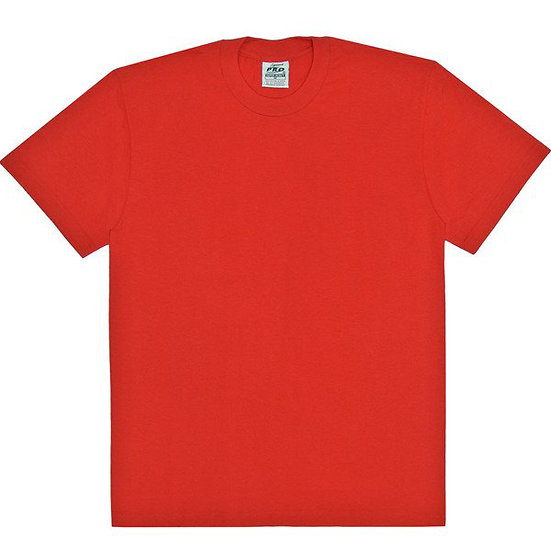 Plain T Shirt Big and Tall Red