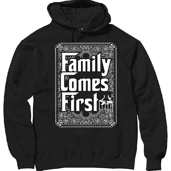 Family comes first bandana hoodies