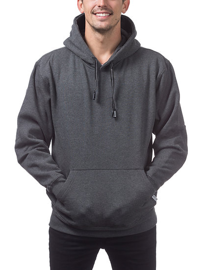 Proclub Heavyweight Pullover Fleece Hoodie Dark Grey