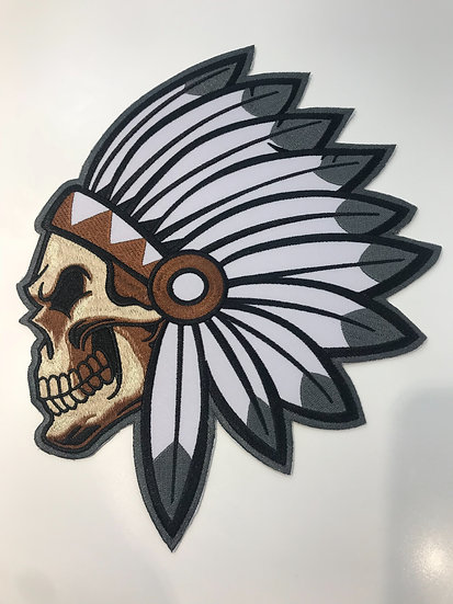 Skull Tribal Large Patch