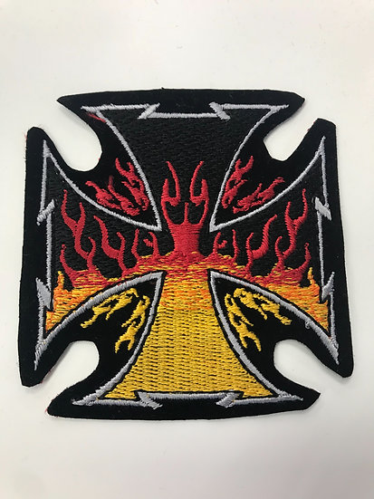Chopper Flame Patch