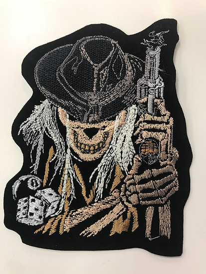 Skull with Pistol Patch