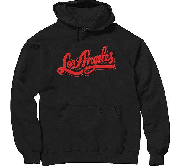 Red Script Los Angeles Hoodie