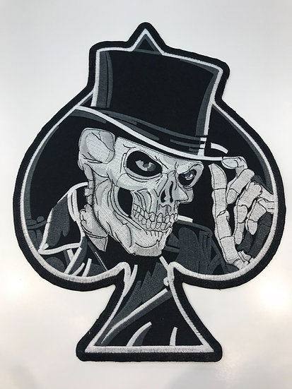 Skull Spades Large Patch