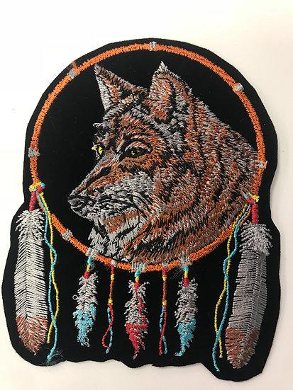 Wolf Dream Catcher Patch