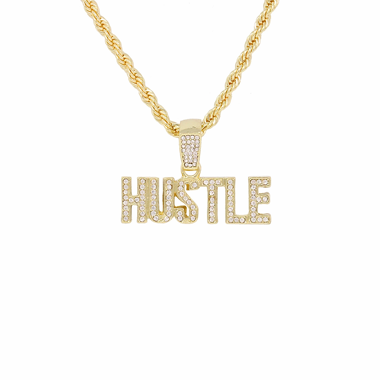 Hustle Caplock Pendant Chain Necklace