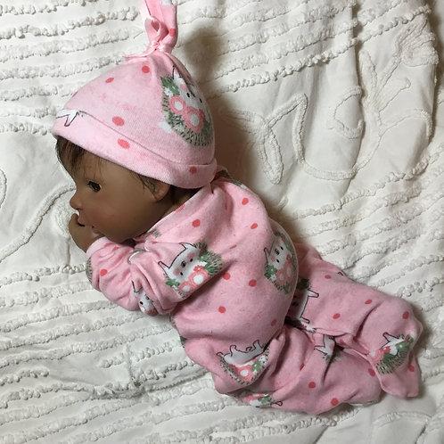 Micro Preemie Sleeper with Hat