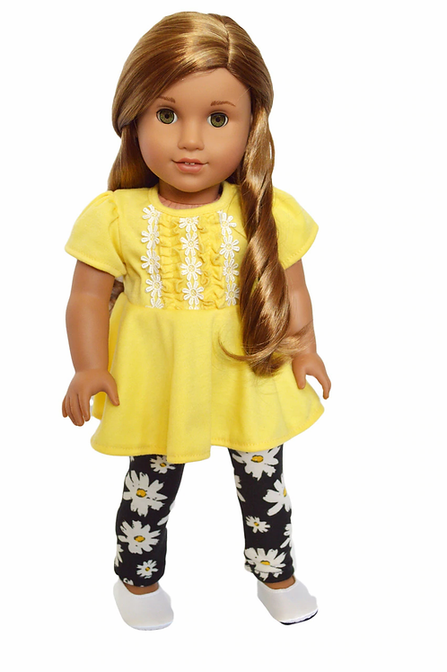 """18""""Doll OUtfit Yellow Fits American Girl Dolls"""