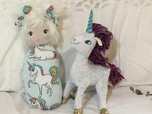 Swaddle Sweeties Doll Unicorn