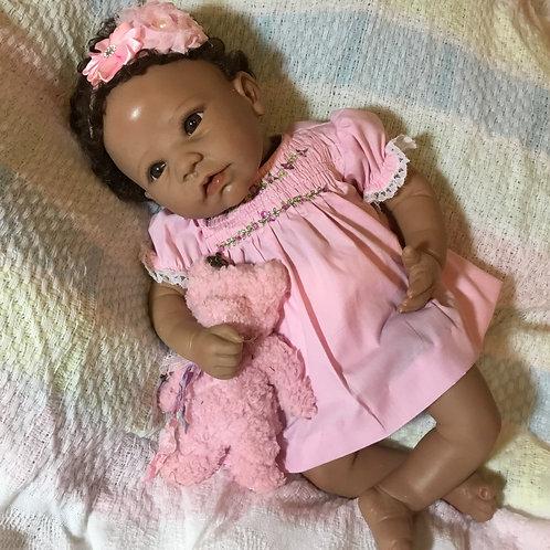 Reborn Pink Smocked Dress