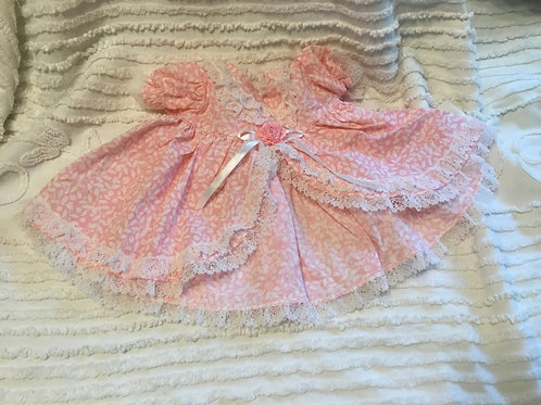 Preemie Reborn Pink Floral Dress and Panties
