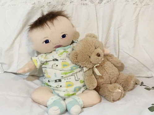 OOAK Soft Sculpture Newborn Baby Boy