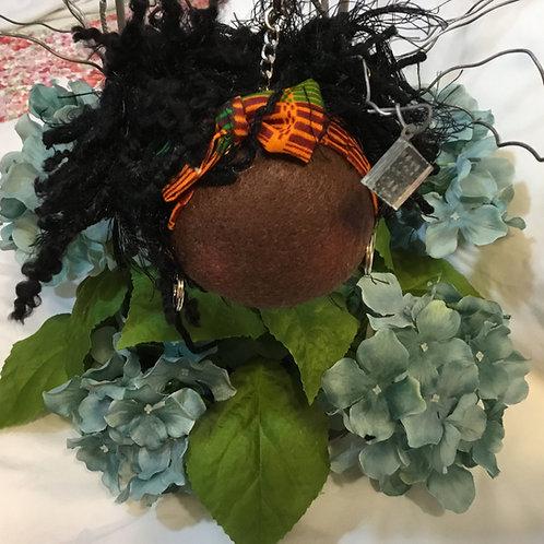 African American Natural Hair Keychain,Purse Charm