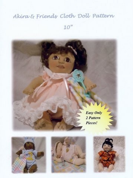 Adorable Akira and Friends E Pattern 10 Inch Cloth Doll