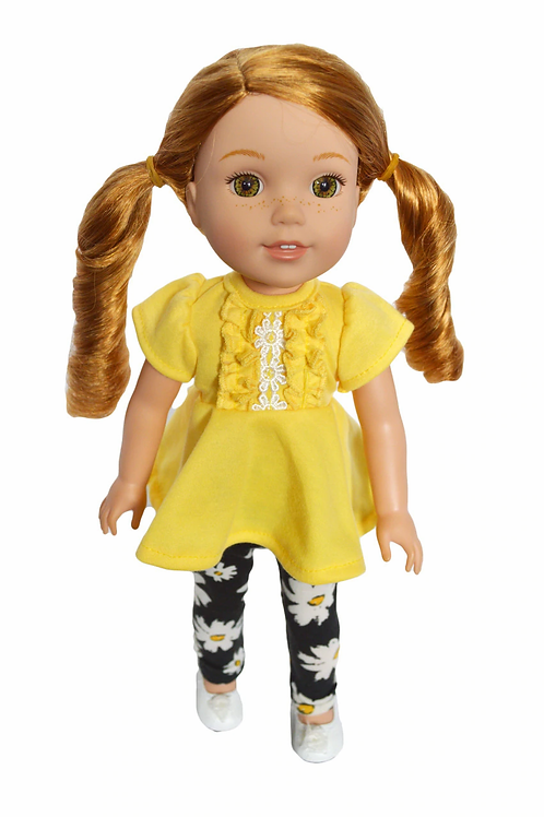 """14""""Doll Outfit Yellow Fits Wellie Wishes, Glitter Girl  Dolls"""
