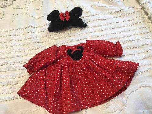 Micro Preemie Minnie Mouse Dress 3/4 Sleeves