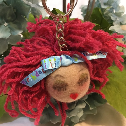 African American Natural Hair  Small Keychain,Purse Charm