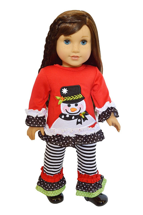"18"" Doll Outfit Christmas Fits American Girl Dolls"