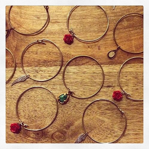 Bangle Bracelet- Vintage Charm Wish Bangles