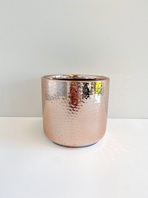 Rose Gold Textured Pot