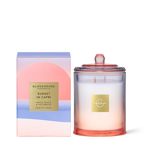 Sunset in Capri White Peach & Sea Breeze - Limited Edition 380g Candle