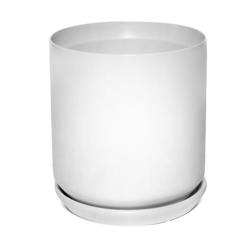 Cylinder Pot White 22cm