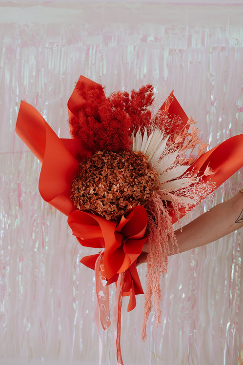 PRESERVED BOUQUET - REDS + PINKS