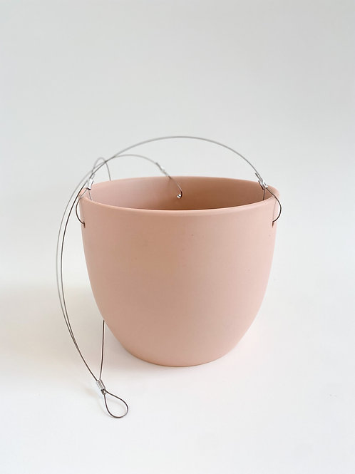 Hanging Pot Self-Watering 20cm - Blush Pink