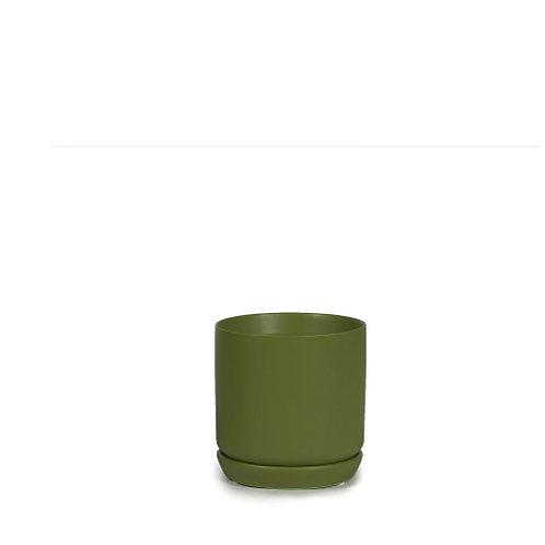Cylinder Pot Dark Green 8cm